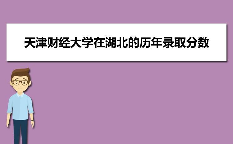 天津财经大学在湖北的历年录取分数线及招生计划人数