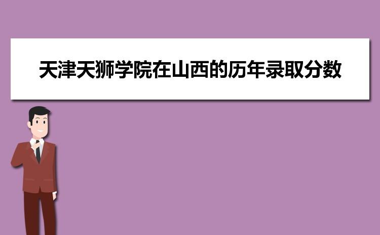 天津天狮学院在山西的历年录取分数线及招生计划人数