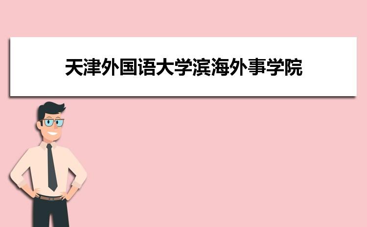天津外国语大学滨海外事学院在四川的历年录取分数线及招生计划人数