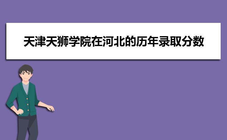 天津天狮学院在河北的历年录取分数线及招生计划人数