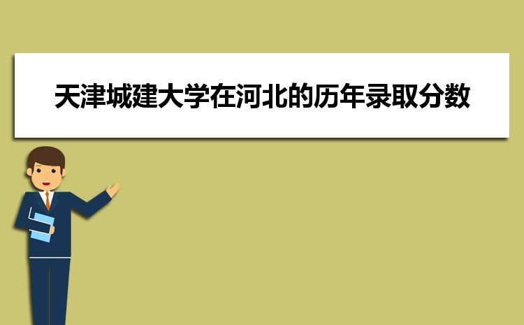天津城建大学在河北的历年录取分数线及招生计划人数