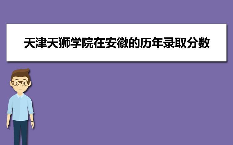 天津天狮学院在安徽的历年录取分数线及招生计划人数