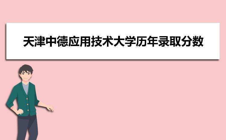 天津中德应用技术大学在湖南的历年录取分数线及招生计划人数