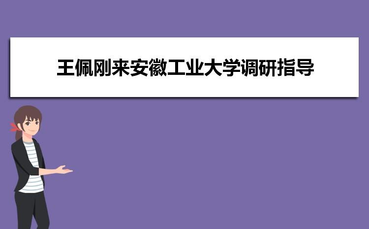 省委教育工委副书记王佩刚来安徽工业大学调研指导