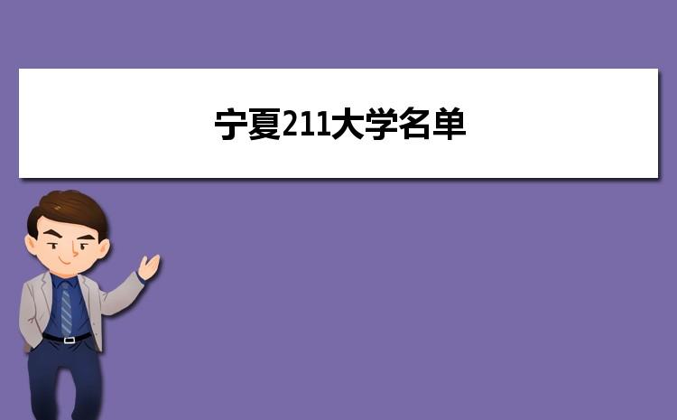 2021年宁夏211大学名单及录取分数线排名榜