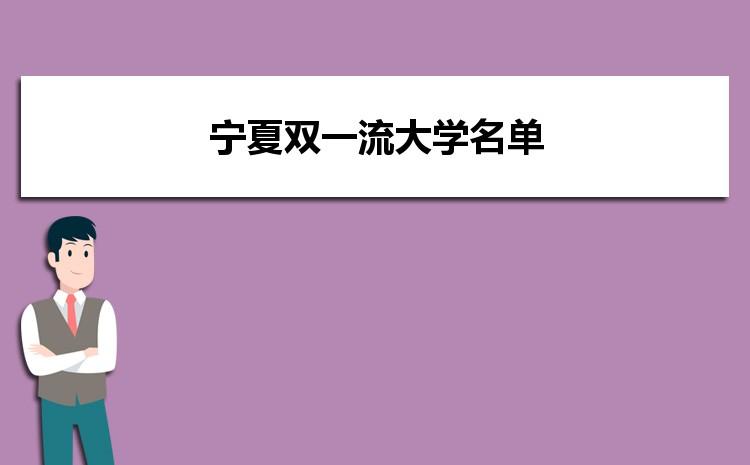 2021年宁夏双一流大学名单及录取分数线排名榜