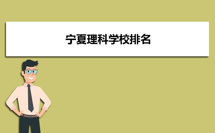 2021年宁夏理科大学录取分数线排名,宁夏理科学校排名