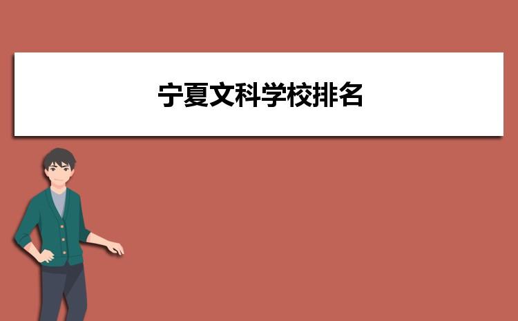 2021年宁夏文科大学录取分数线排名,宁夏文科学校排名