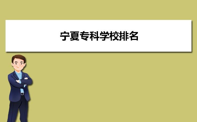 2021年宁夏专科院校录取分数线排名,宁夏专科学校排名